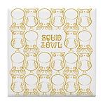 S&O Yellow Egg & Dart Logo Tile Coaster