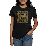 S&O Yellow Egg & Dart Logo Women's Dark T-Shirt