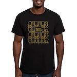 S&O Yellow Egg & Dart Logo Men's Fitted T-Shirt (d