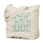 S&O Green Egg & Dart Logo Tote Bag