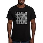 S&O White Egg & Dart Logo Men's Fitted T-Shirt (da