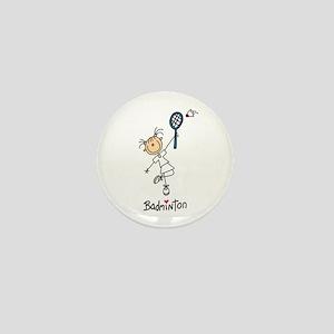 Girl's Badminton Mini Button