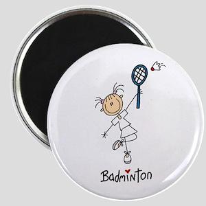 Girl's Badminton Magnet