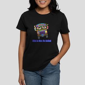 Hippie School Bus Women's Dark T-Shirt