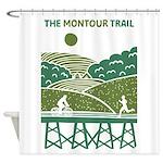 Green Scenic Trail Design Shower Curtain