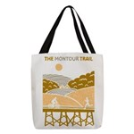Yellow Scenic Trail Design Polyester Tote Bag