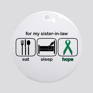 Sister-in-law ESHope Kidney Ornament (Round)