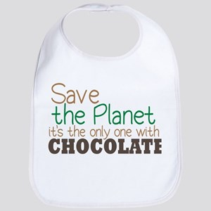 Only Planet with Chocolate Bib