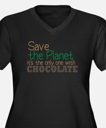 Only Planet with Chocolate Women's Plus Size V-Nec