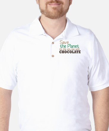 Only Planet with Chocolate Golf Shirt