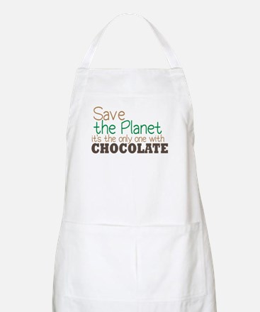 Only Planet with Chocolate BBQ Apron