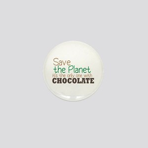 Only Planet with Chocolate Mini Button