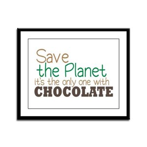 Only Planet with Chocolate Framed Panel Print