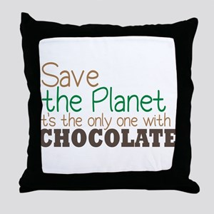 Only Planet with Chocolate Throw Pillow