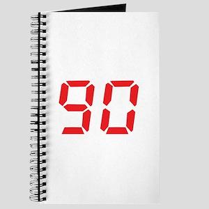 90 ninty red alarm clock numb Journal