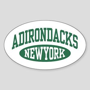 Adirondacks NY Sticker (Oval)
