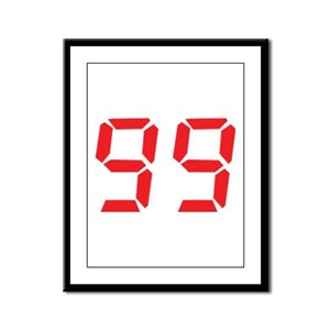 99 ninty-nine red alarm clock Framed Panel Print