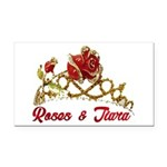 Roses Rectangle Car Magnet