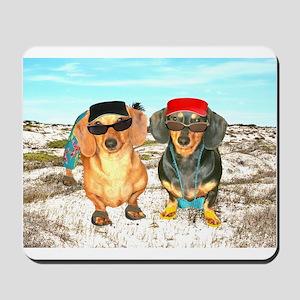 Beach Doxies Mousepad
