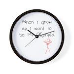 Grow up Ms Olympia Wall Clock