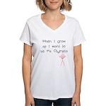 Grow up Ms Olympia Women's V-Neck T-Shirt