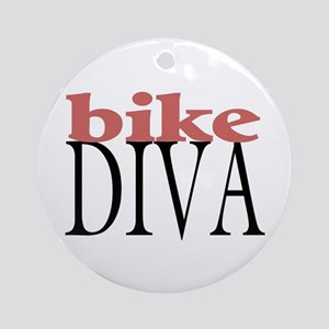 Bike Diva Ornament (Round)
