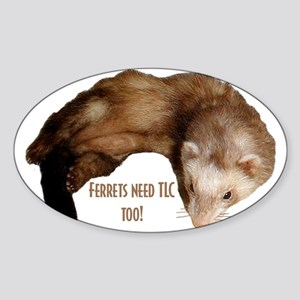 Ferrets Oval Sticker