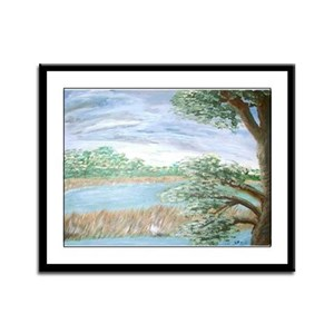 """""""View from a Florida Hammock Framed Panel Print"""