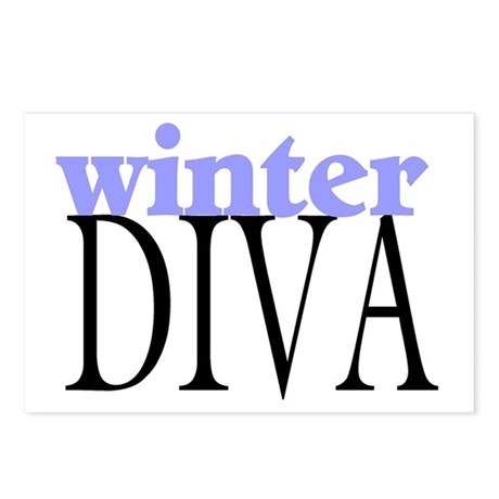 Winter Diva Postcards (Package of 8)