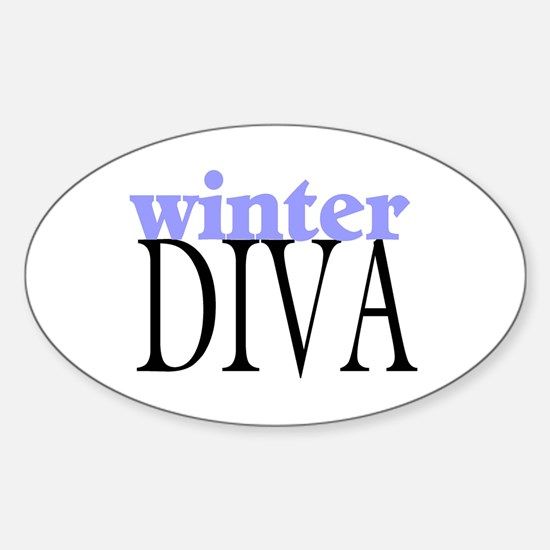 Winter Diva Oval Decal