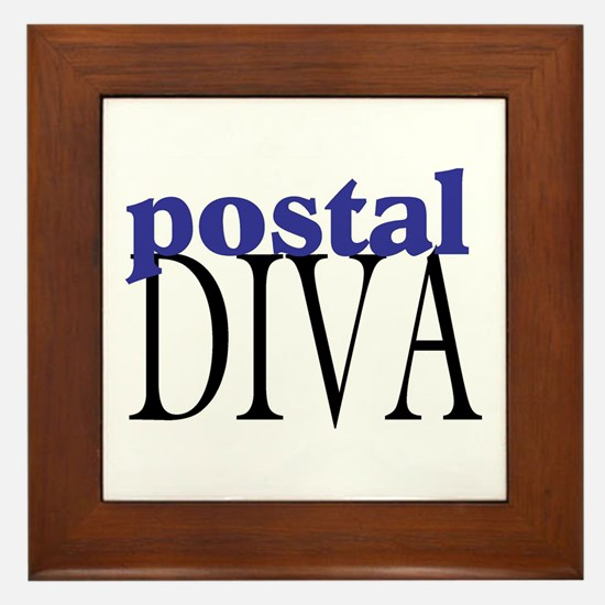Postal Diva Framed Tile