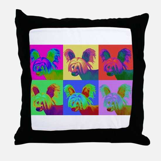 Op Art Crestie Throw Pillow