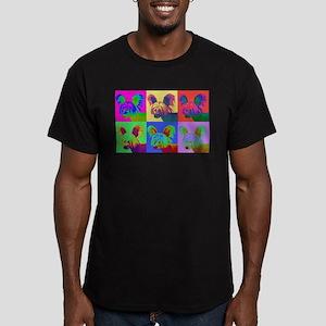 Op Art Crestie Men's Fitted T-Shirt (dark)