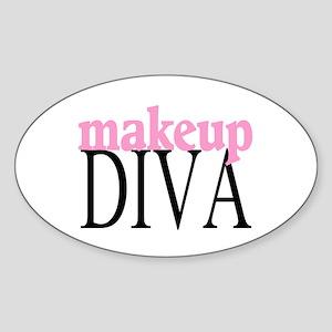 Makeup Diva Oval Sticker