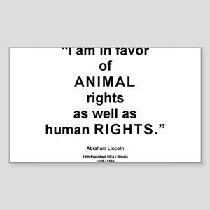 Animal Rights/L Rectangle Sticker