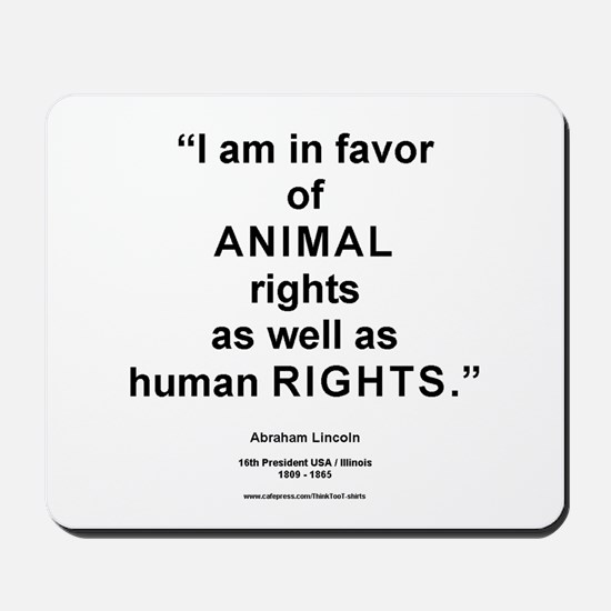 Animal Rights/L Mousepad