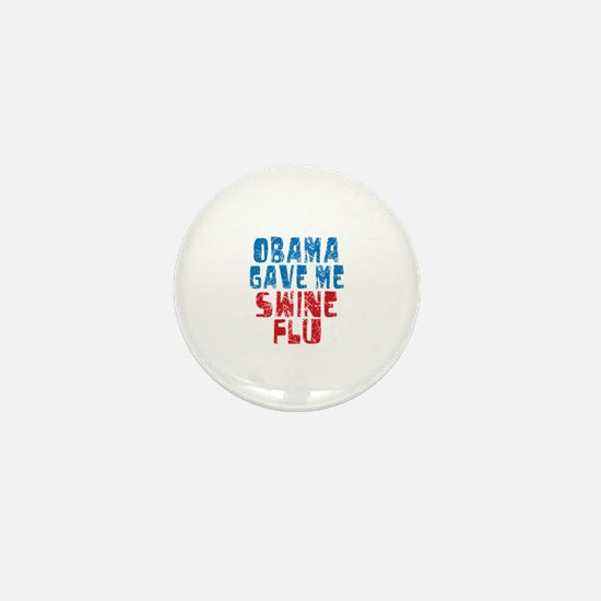 Obama Swine Flu Mini Button (10 pack)