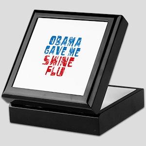 Obama Swine Flu Keepsake Box