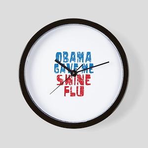Obama Swine Flu Wall Clock