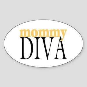 Mommy Diva Oval Sticker