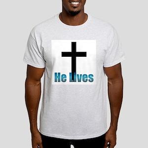 He lives Ash Grey T-Shirt