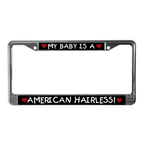 American Hairless License Plate Frame