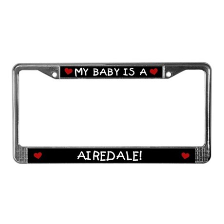 Airedale License Plate Frame