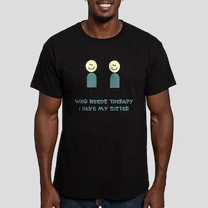 Sisters Fun Men's Fitted T-Shirt (dark)