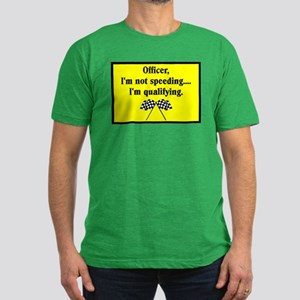 OFFICER, I'M NOT SPEEDING Men's Fitted T-Shirt (da