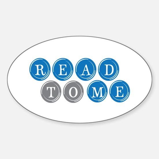 Read To Me Oval Decal