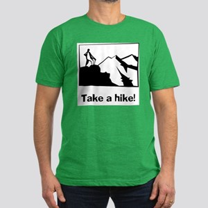 TAKE A HIKE Men's Fitted T-Shirt (dark)