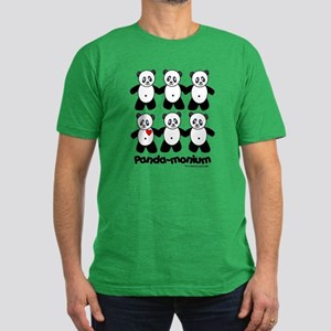 Panda-monium Men's Fitted T-Shirt (dark)