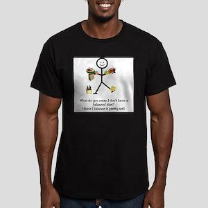 Balanced Diet Men's Fitted T-Shirt (dark)