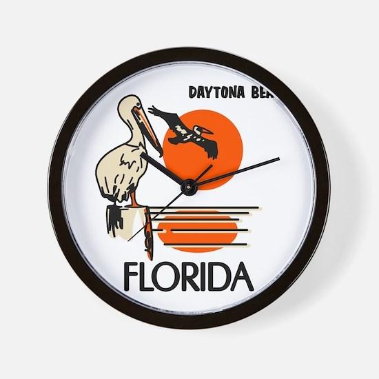 Daytona Beach Florida Wall Clock